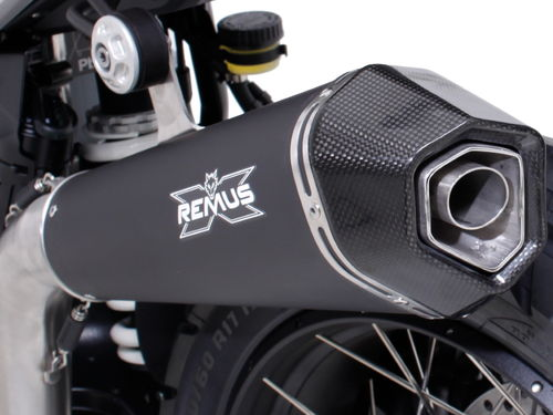 REMUS HYPERCONE Silencer stainless steel black high R nineT from 2017 EC